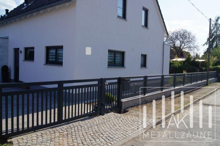 moderner zaun metall aus metall bietet viele vorteile u. Black Bedroom Furniture Sets. Home Design Ideas